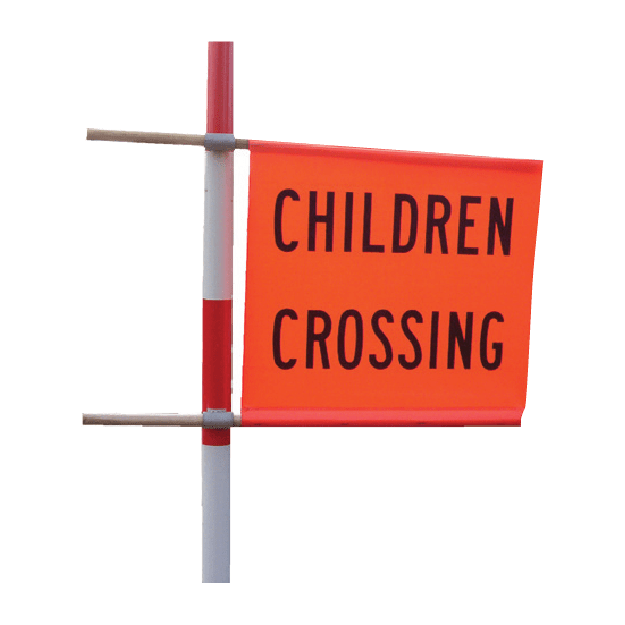 School Crossing Flags and Poles