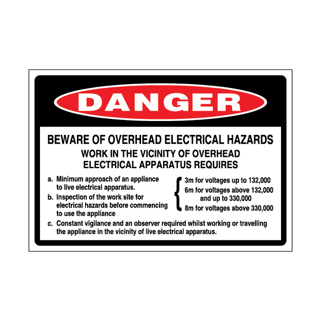 Danger Beware of Electrical Hazards