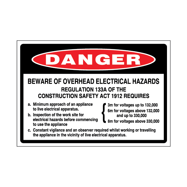 Danger Beware of Electrical Hazards – 2