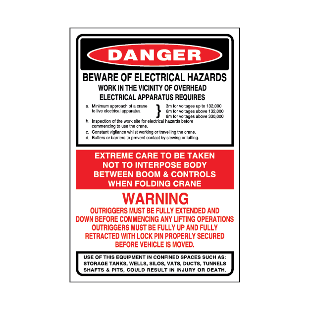 Danger Beware of Electrical Hazards – 1